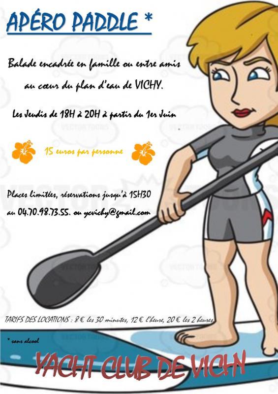 Affiche apero paddle