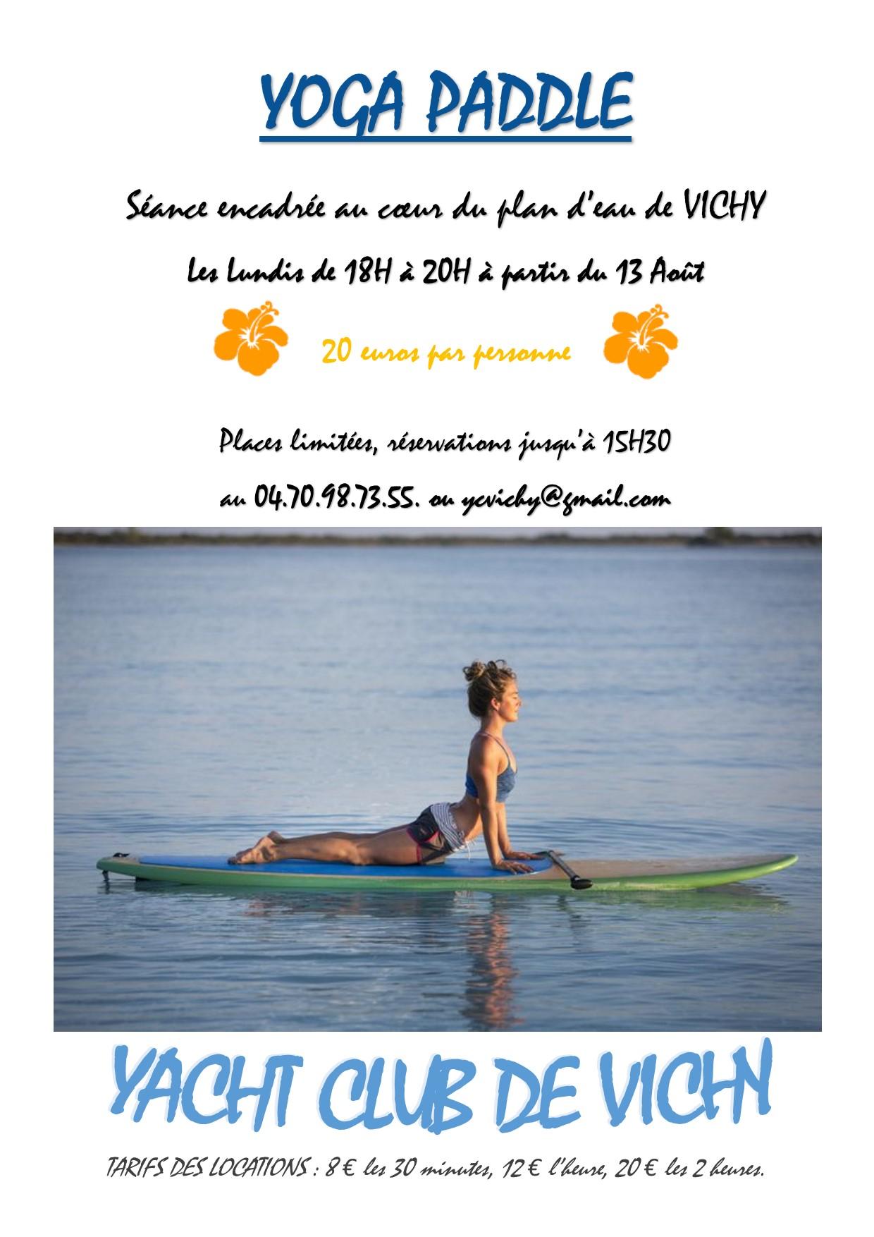 Affiche yoga paddle